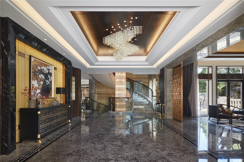 奢华新中式别墅门厅装修效果图