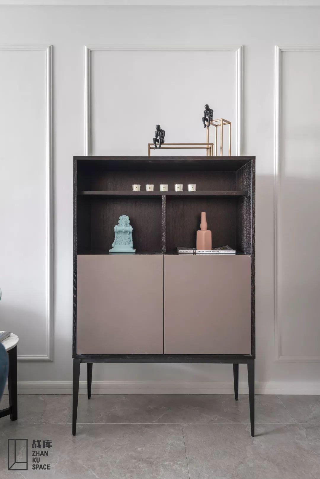 现代混搭风三居室装修边柜设计图