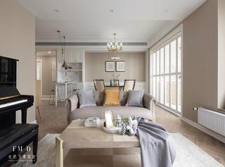 140㎡美式四居客厅装修效果图