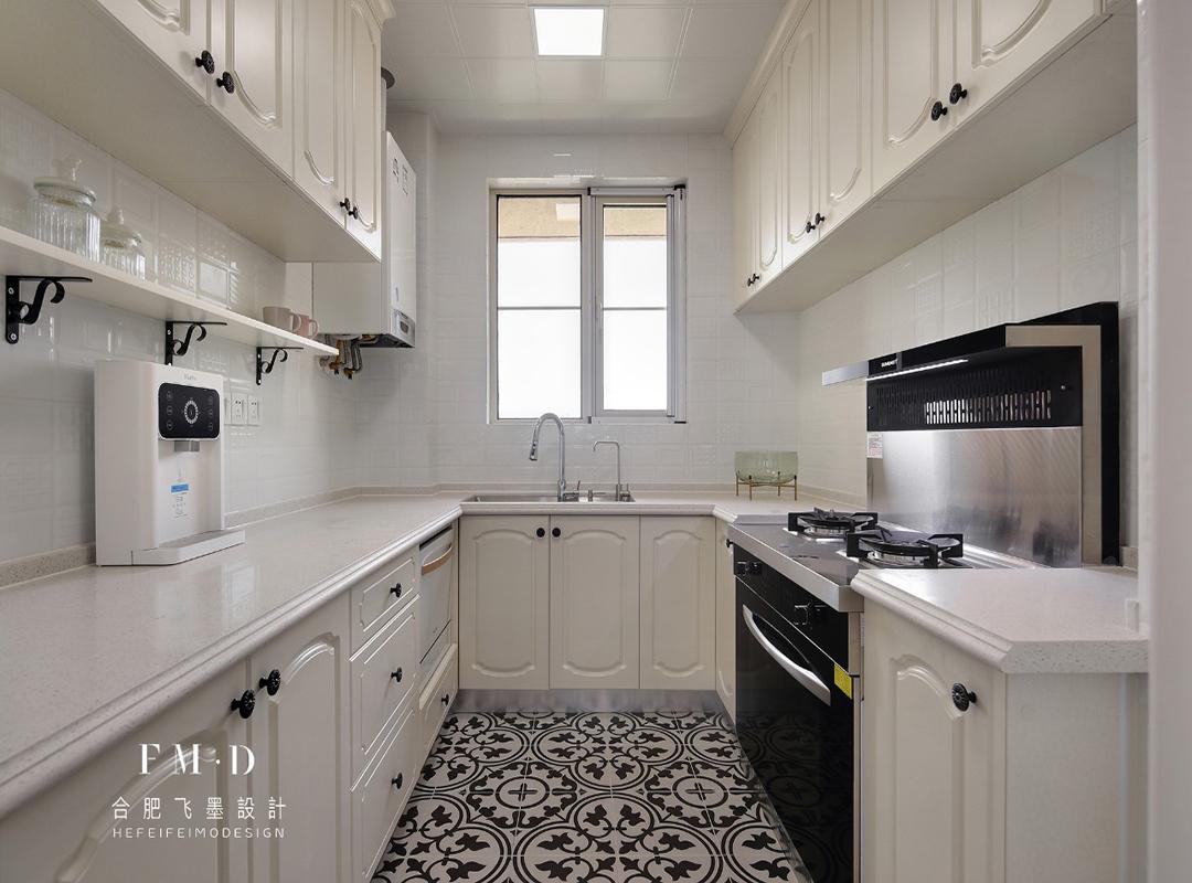 140㎡美式四居厨房装修效果图
