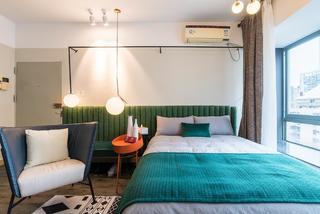 小户型复古风公寓卧室装修效果图