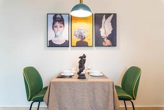 小户型复古风公寓餐厅装修效果图