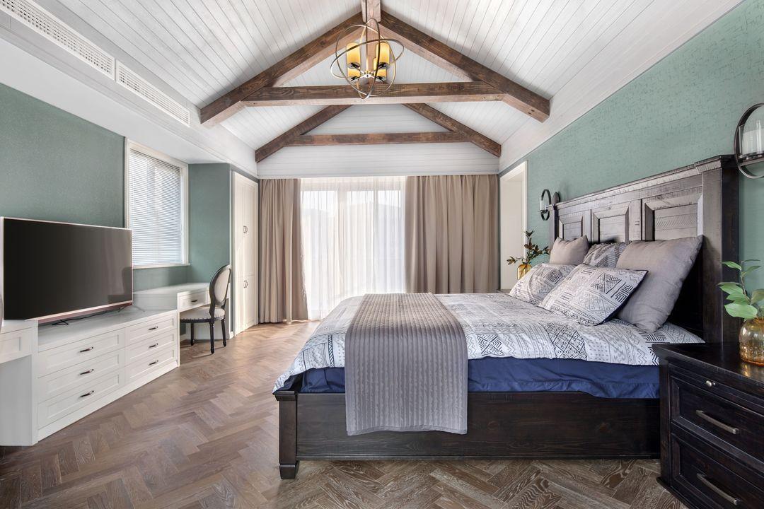 美式乡村风格别墅卧室装修效果图