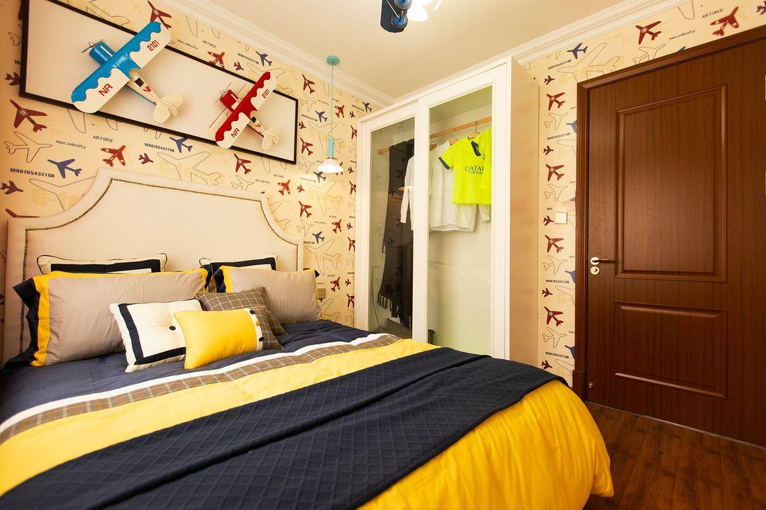 74平米两居室儿童房装修效果图
