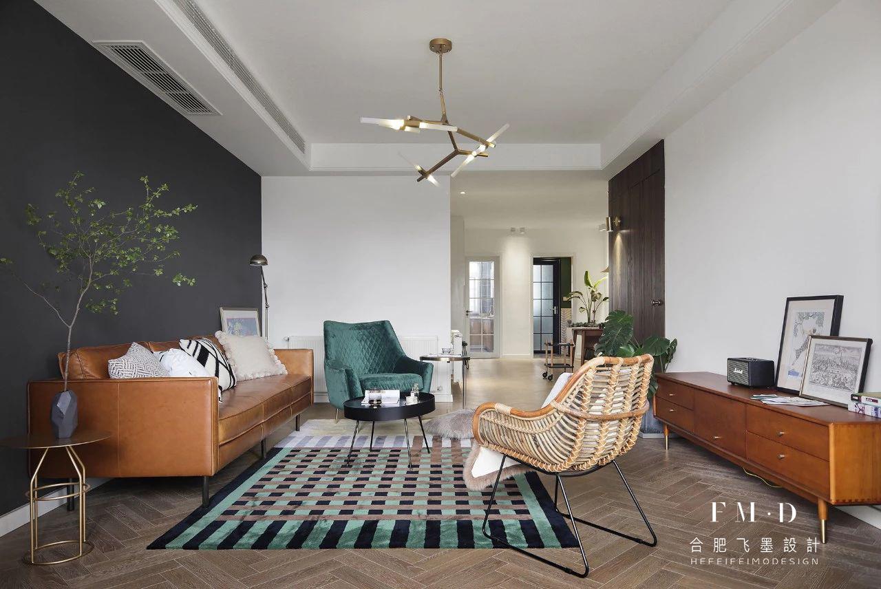 北欧混搭三居室客厅装修效果图