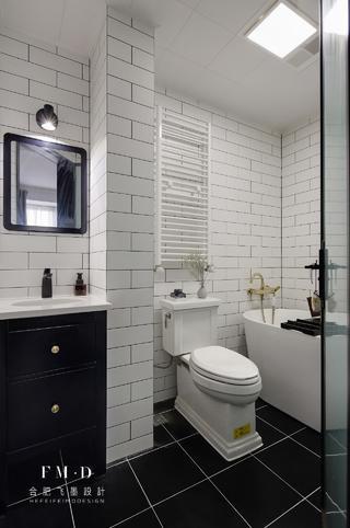 北欧混搭三居室卫生间装修效果图