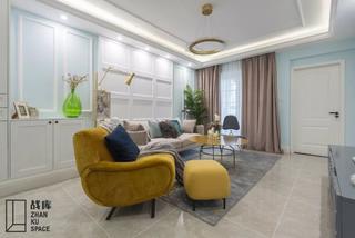 80平米三居室客厅装修效果图