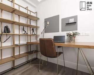 80平米三居室书房装修效果图