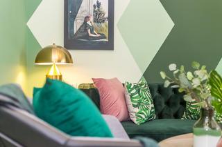 60㎡绿色两居室装修客厅局部特写