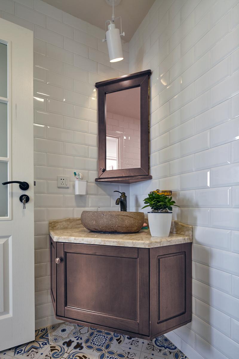 混搭风格两居室洗手台装修效果图