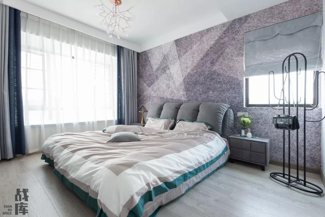 北欧现代三居卧室装修效果图