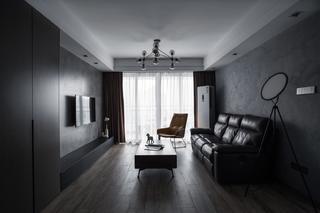 灰色现代风两居客厅装修效果图