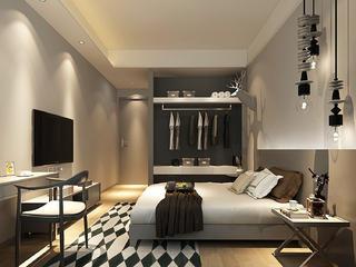 现代北欧风卧室装修设计效果图
