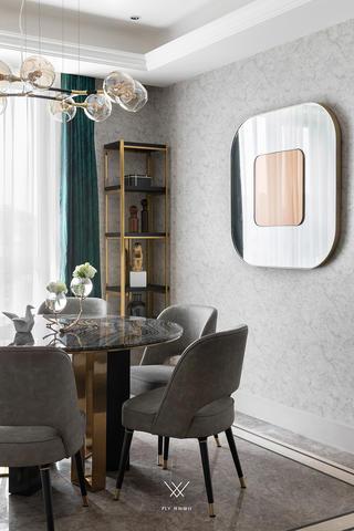 180平现代轻奢风装修餐桌椅设计图