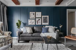 180㎡混搭风格沙发背景墙装修效果图