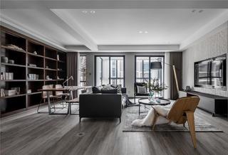 140平现代简约客厅装修效果图