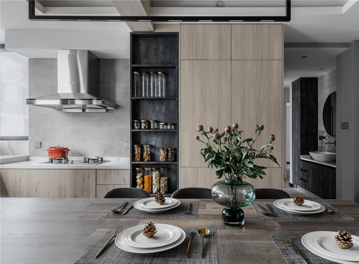 140平现代简约厨房装修效果图