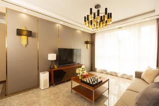 74平米二居室电视背景墙装修效果图
