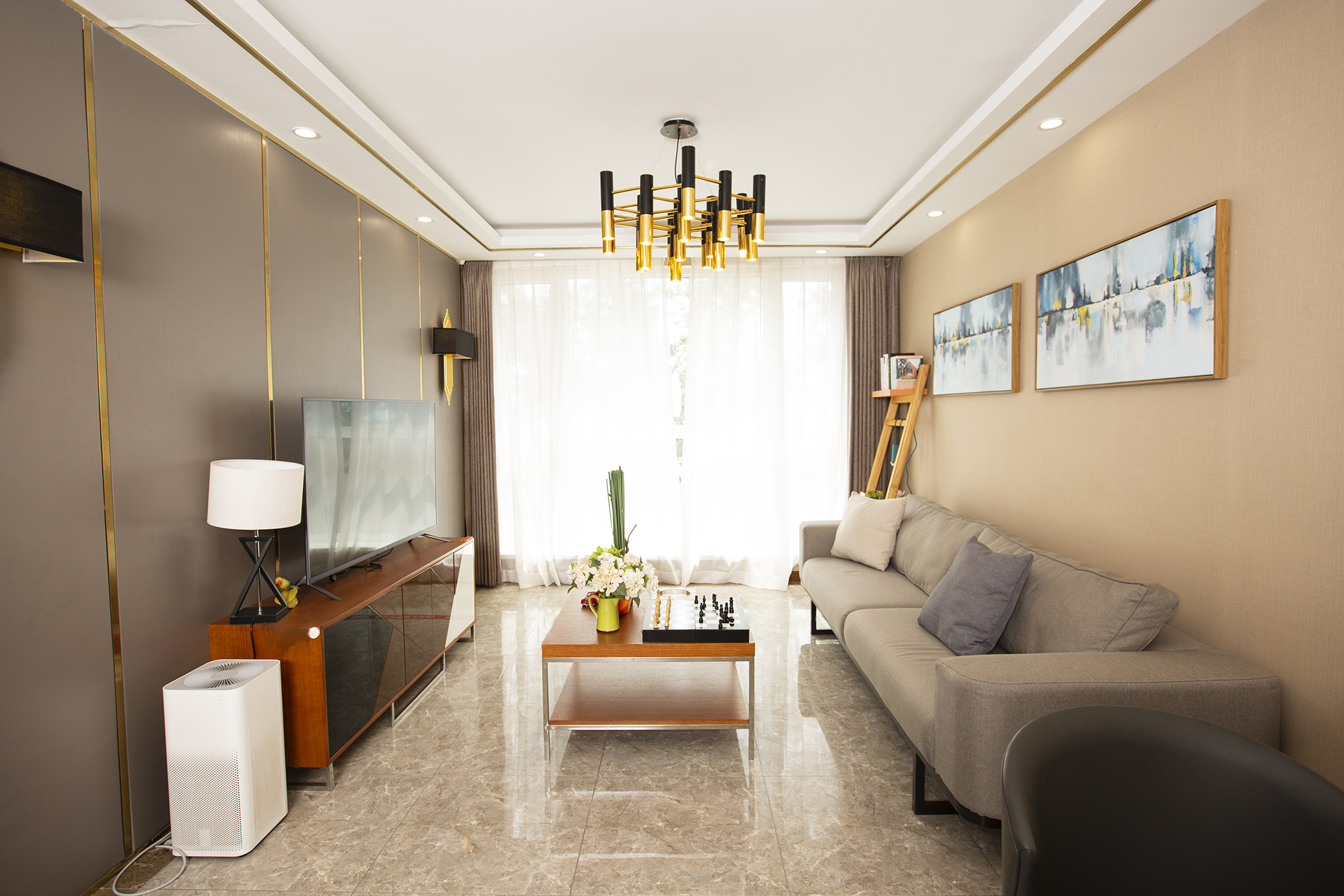 74平米二居室客厅装修效果图
