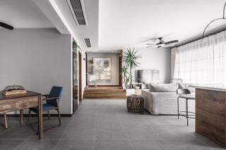 现代日式三居客厅过道装修效果图