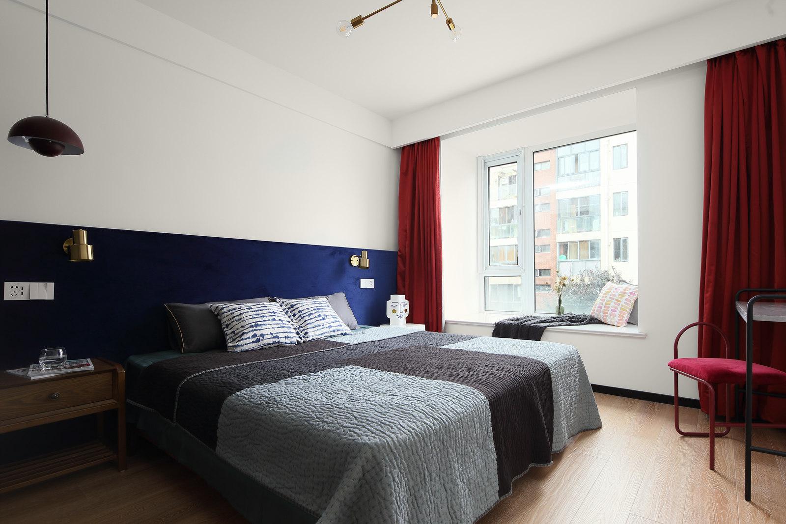 简约北欧风格三居卧室装修效果图