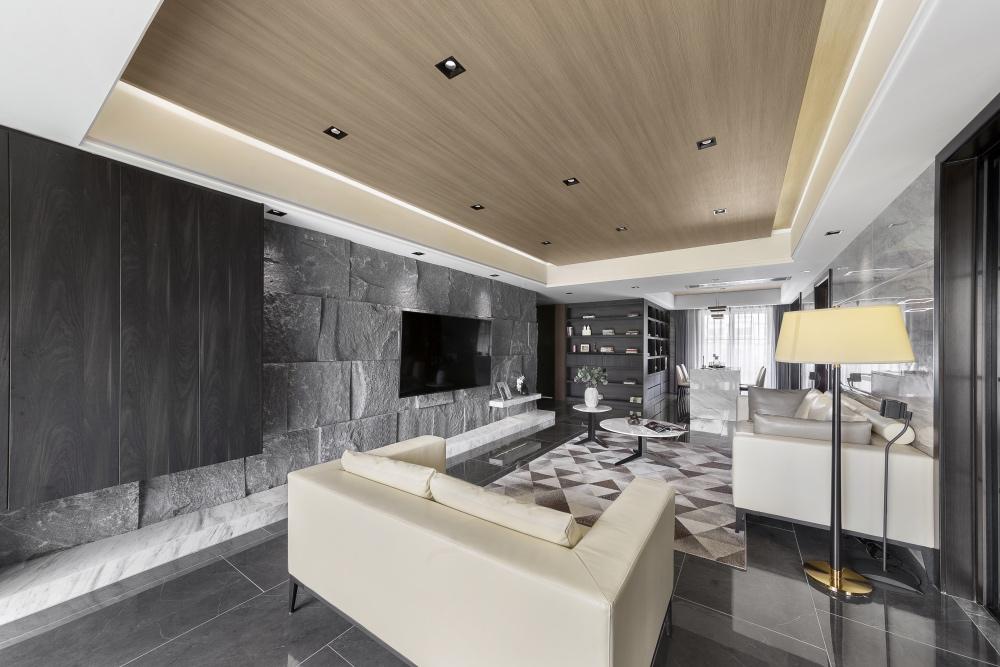148㎡现代风格客厅吊顶装修效果图