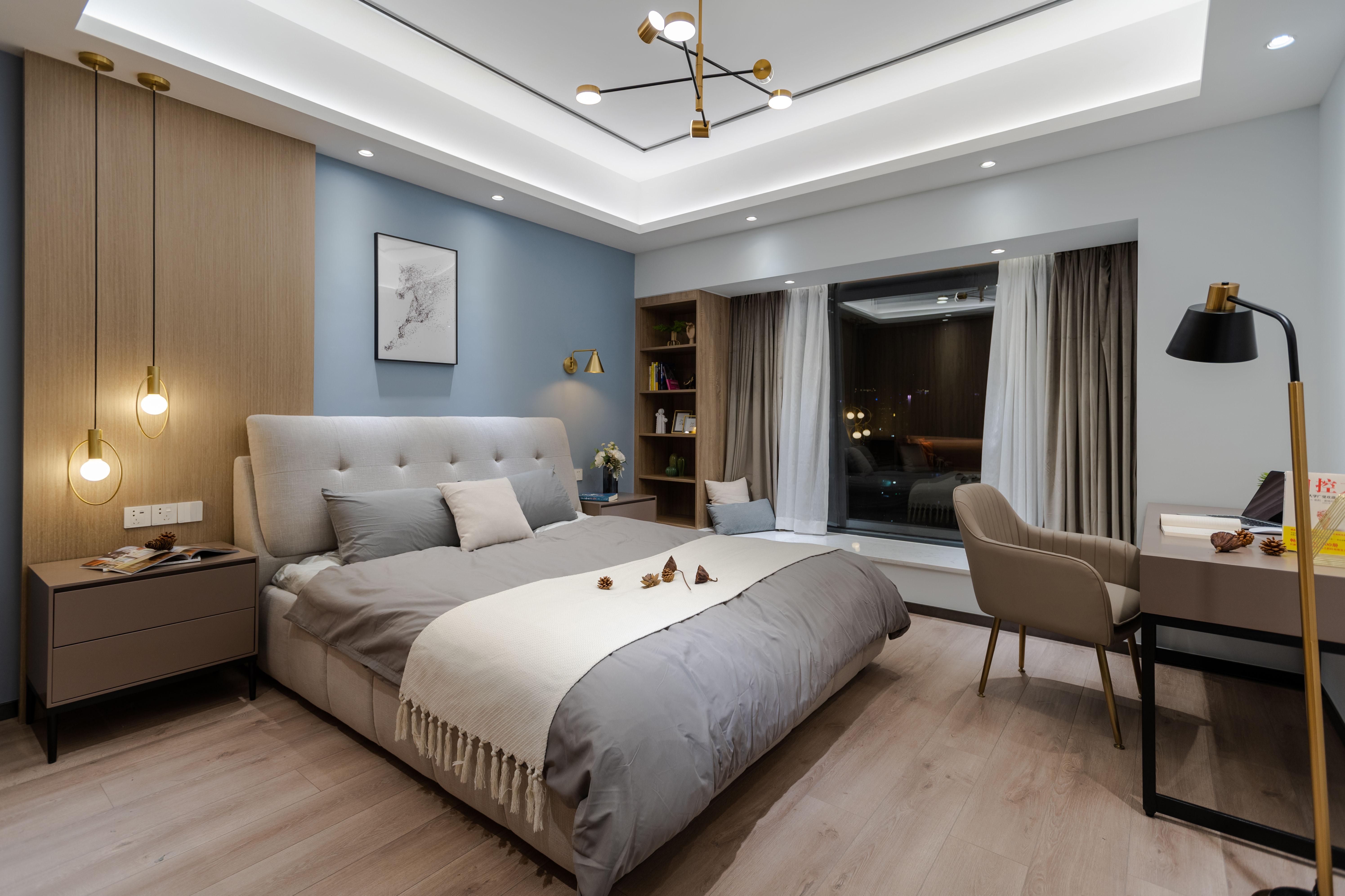 155㎡现代风格卧室装修效果图