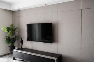 102㎡现代风格电视背景墙装修效果图