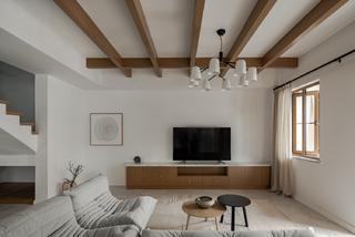 复式极简现代风客厅装修效果图