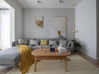 70平米两居室沙发背景墙装修效果图