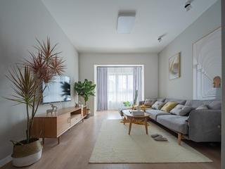 70平米两居室客厅装修效果图