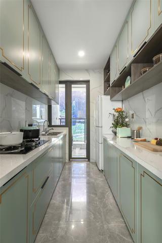现代中式风格三居厨房装修效果图