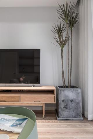 85㎡北欧风三居装修电视柜设计图