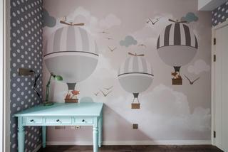 混搭风格别墅装修儿童房壁纸设计