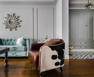 混搭风格二居室装修单人沙发设计