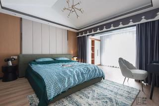 现代简约风格别墅卧室装修效果图