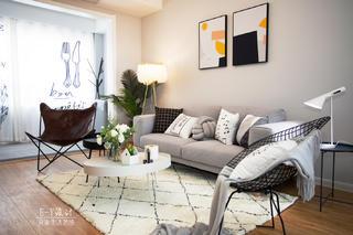 110㎡北欧风格装修沙发设计图