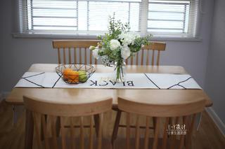 110㎡北欧风格装修餐桌椅设计图