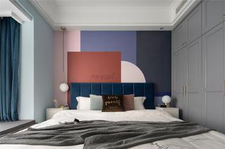 105平北欧风三居床头背景墙装修效果图