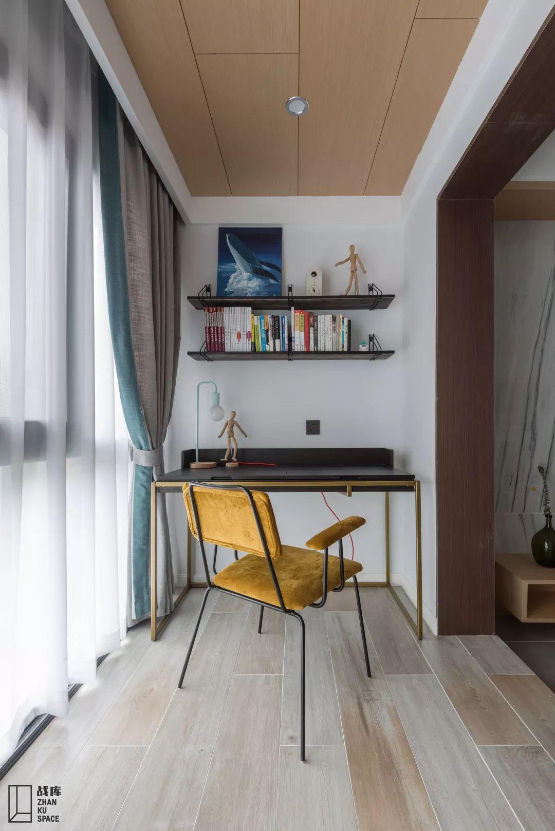 130㎡现代风格装修书桌设计图