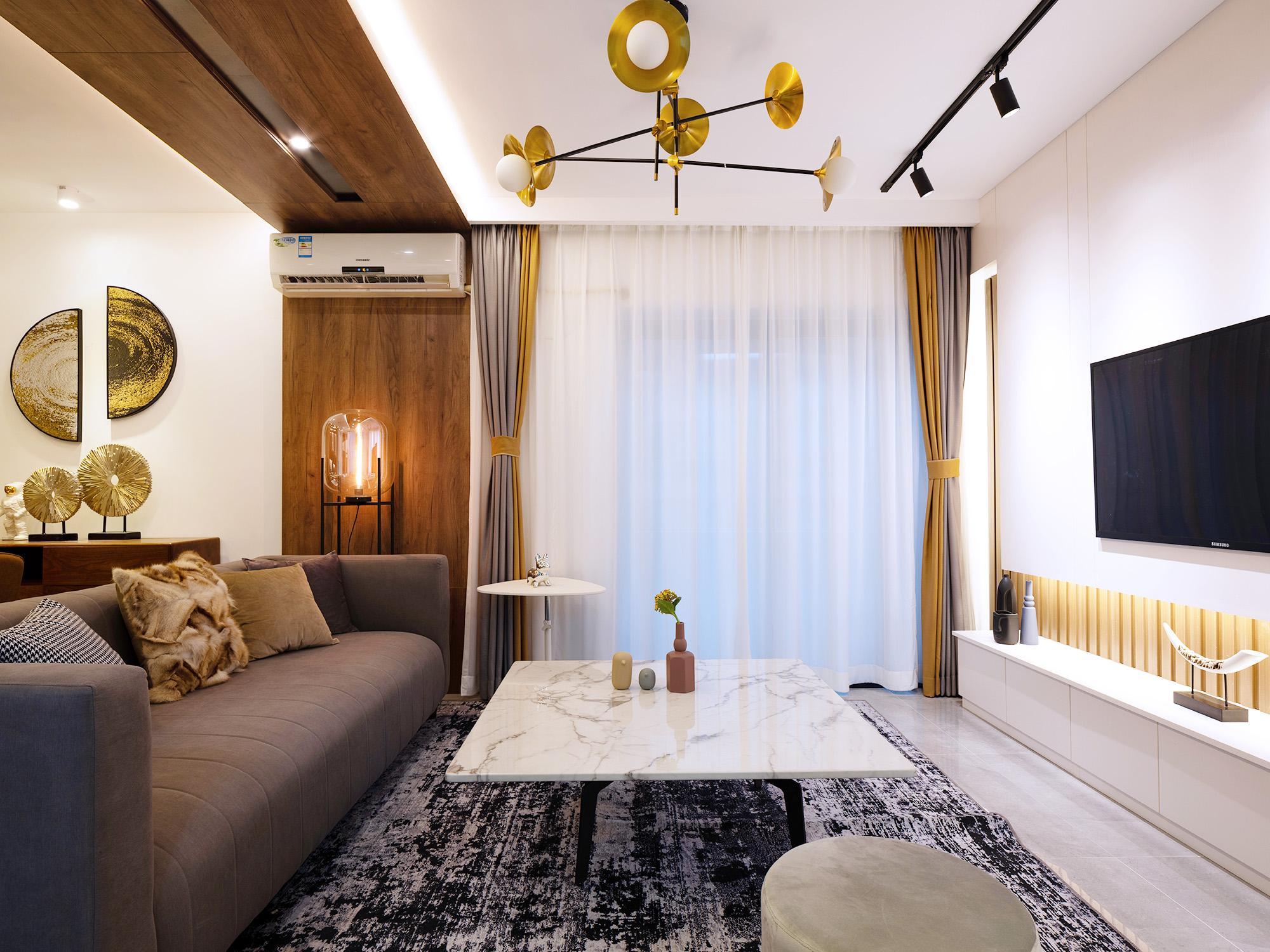 92平现代风格客厅装修效果图