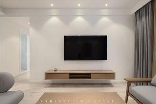 105㎡极简风格电视背景墙装修效果图