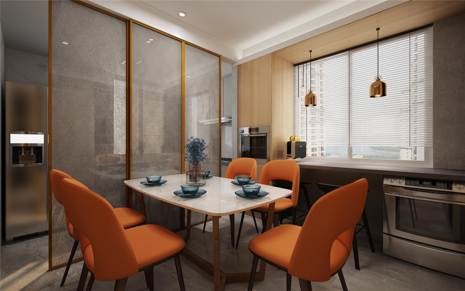 110平现代风格餐厅装修效果图