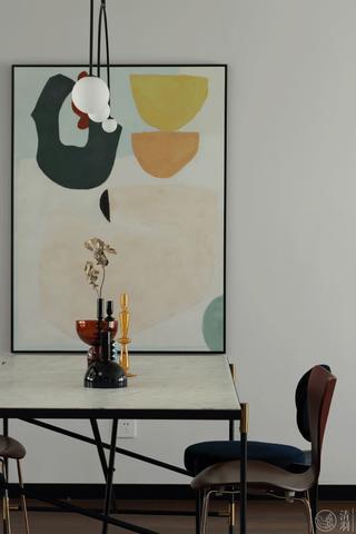 110㎡北欧风装修餐桌椅设计图