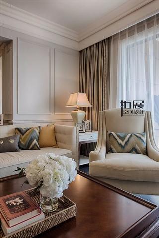 美式新古典风格装修客厅一角