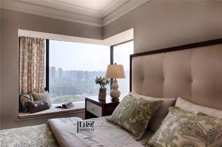 美式新古典风格卧室飘窗装修效果图