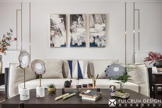 140㎡新中式风格装修沙发设计图