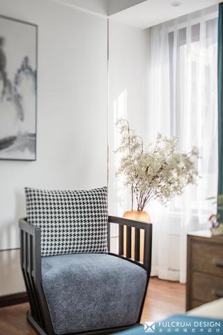 140㎡新中式风格装修休闲椅设计