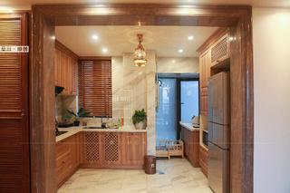 86㎡东南亚风格厨房装修效果图