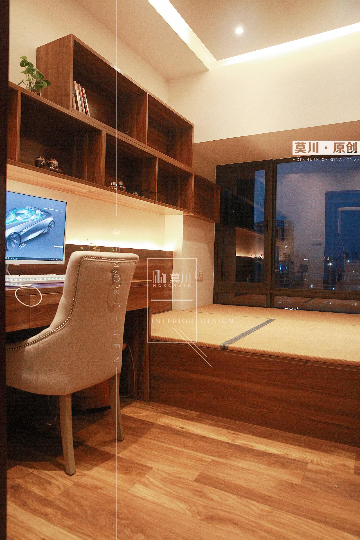86㎡东南亚风格榻榻米书房装修效果图